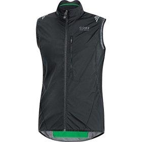 GORE BIKE WEAR Men's Element Windstopper Active Shell Vest, Black, Large