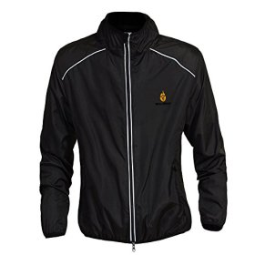 WOLFBIKE Cycling Jacket Jersey Sportswear Long Sleeve Wind Coat, Color: Black, Size: L