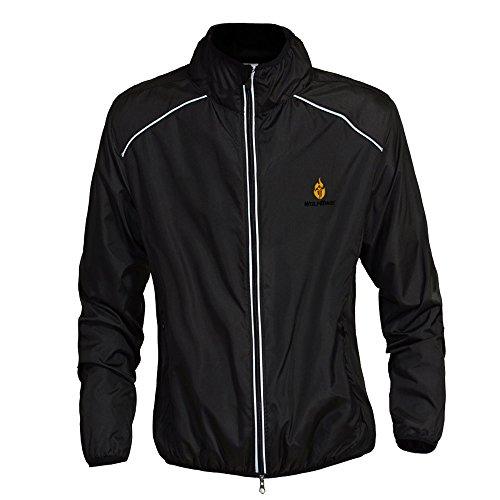 WOLFBIKE Cycling Jacket Jersey Sportswear Long Sleeve Wind Coat, Color: Black, Size: L