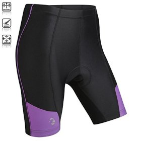 Tenn Ladies Coolflo 8 Panel Padded Cycling Shorts – Black/Radiant Orchid – 10-12