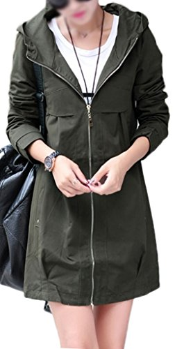 Z-SHOW™ Women's Leisure Thin Loose Trench Coats(Army Green,S)
