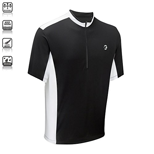 Tenn Mens Coolflo S/S Cycling Jersey – Black/White – Lrg
