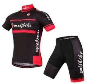 WOLFBIKE Men's Cycling Short Sleeve Jersey, OR Jersey + 3D Padded Shorts Set (BRITISH WIND, US M / CN XL)
