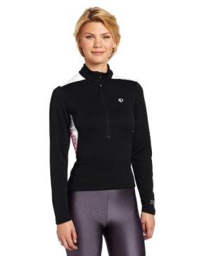 Pearl Izumi Women's Superstar Thermal Print Jersey, Large, Black/Berry