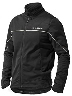 Inbike Winter Men's Fleeced Athletic Jacket Soft Shell Coat Windbreaker Thermal Tech Clothing (XX-Large, TJJ)