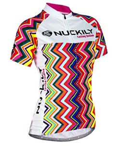 Nuckily Women's Short Sleeve Cycling Jersey Sportswear Biking Cycling Clothing Quck Dry