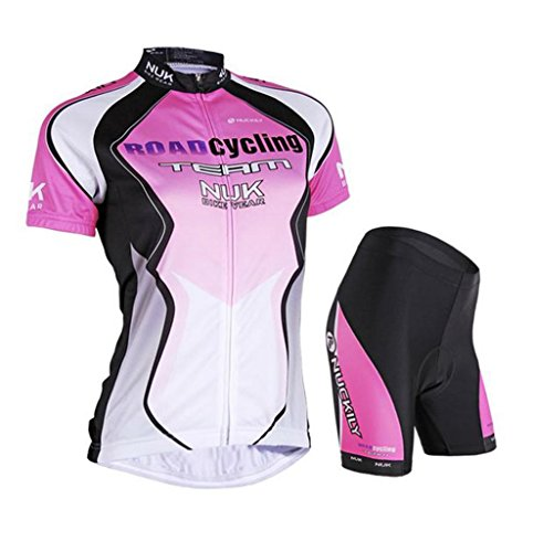 Nuckily Women's Cycling Jersey Outdoor Shorts Qucik Dry Women Short Sleeve Bicycle Wear Clothes Jersey Pants