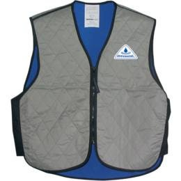 Hyperkewl Adult Street Racing Motorcycle Vest – Silver / Medium