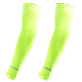 COOLOMG 2PCS CHILD KIDS Anti-slip Arm Sleeves Cover Skin Protection Sports Stretch Basketball Kids Adult Fluorescent Green L