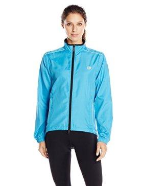 Canari Cyclewear Women's Tour Convertible Jacket, Fiji Blue, X-Large