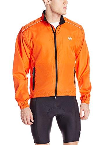 Canari Cyclewear Men's Razor Convertible Jacket, Lava, Small