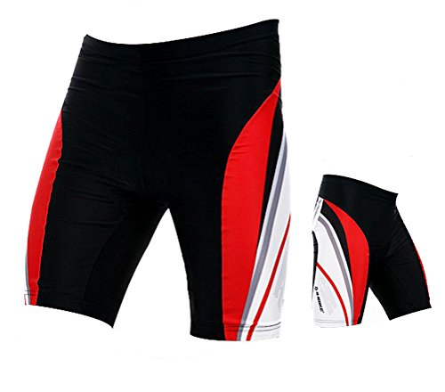 Sponeed Men's Cycle Shorts Tights Bicycle Pants Outfits Asia 3XL/US XXL Red