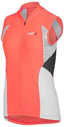 Louis Garneau Women's Beeze Vent Sleeveless Cycling Jersey, Coral Mania, Large