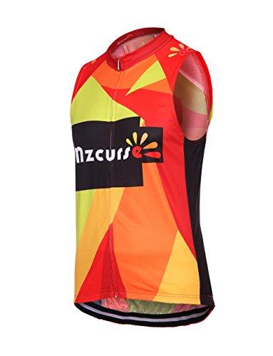 Mzcurse Men's Bicycle Cycling Short Shirt Jersey Shorts Suit Kit Set (Color Vest, XXX-Large,please check the size chart)