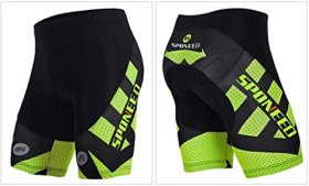 Sponeed Men's Cycle Shorts Tights Bicycle Bike Padded Short Hornet Green Size XL US Multi