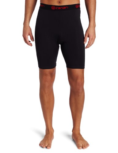 Canari Cycling Gel Liner Short Mens(black with red trim)MED.