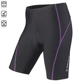Tenn Ladies Viper 8 Panel Padded Cycling Shorts – Black/Radiant Orchid – 10