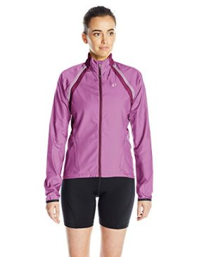 Pearl Izumi – Ride Women's Elite Barrier Convert Jacket, Large, Meadow Mauve/Dark Purple