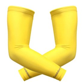 Suddora Multi Colored UV Arm Sleeves for Sport (Yellow)