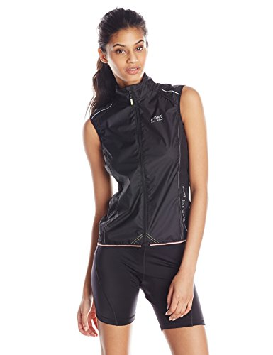 GORE BIKE WEAR Women's Power Windstopper Active Shell Vest, Black, Medium