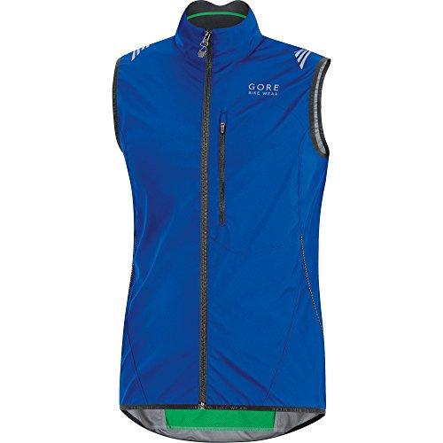 GORE BIKE WEAR Men's ELEMENT WINDSTOPPER Active Shell Vest,size XXL, brilliant blue