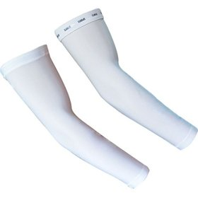 ZQXPP Z110 Unisex Cycling Sun Protective Uv Cover Arm Sleeves Sport Cooling Sleeve-1 Pair (White)