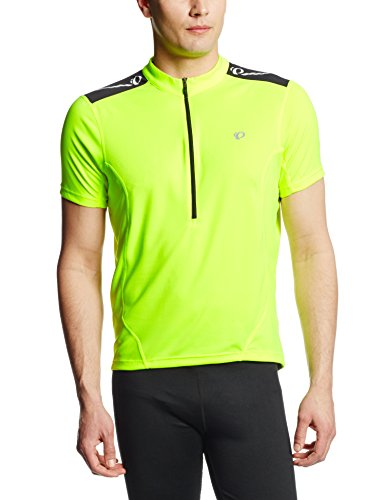 Pearl Izumi Men's Select Short Sleeve Quest Jersey, Screaming Yellow, Large