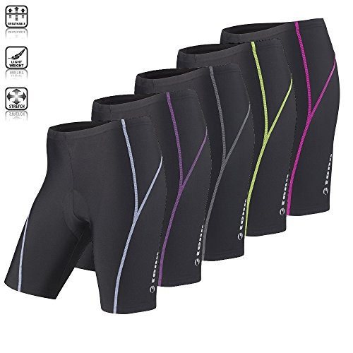 Tenn Ladies Viper 8 Panel Padded Cycling Shorts