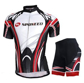 Sponeed Men's Bicycle Jersey Polyester and Lycra Lights Size XL US Multi