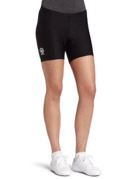 Canari Cyclewear Women's Micro Short Padded Cycling Short (Black, Medium)