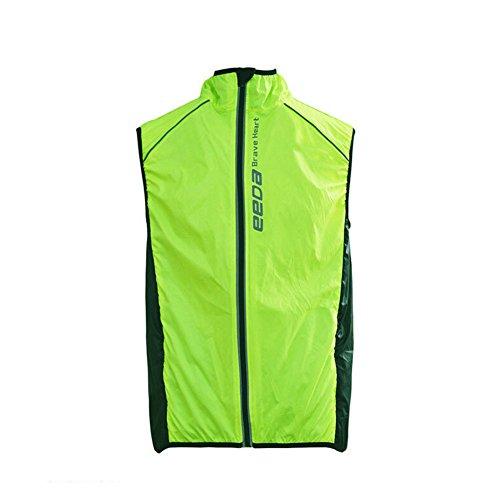 West Biking Women Windproof Thermal Reflective Breathable Rainproof Bike Bicycle Vest Cycling Cycle Sleeveless Wind Coat Windcoat Jacket Vest Green