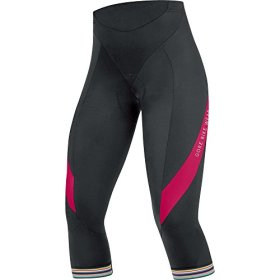 GORE BIKE WEAR Women's POWER LADY 3.0 Tights 3/4+, size S, black/jazzy pink