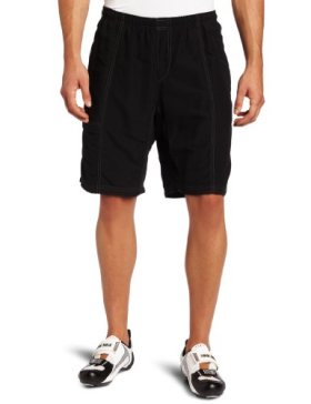 Canari Cyclewear Men's Mountain Canyon Gel Baggy Padded Cycling Short (Black, Large)