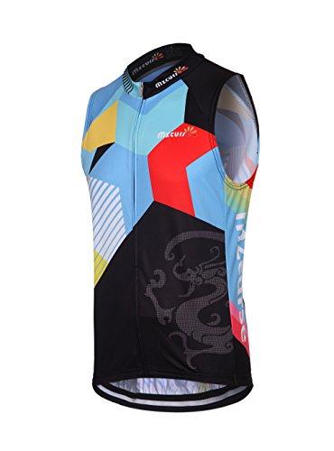 Mzcurse Men's Team Mountain Bike Cycling Short Shirt Jersey Shorts Suit Kit Set (Color Vest, XX-Large,please check the size chart)