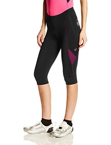 Pearl Izumi – Ride Women's Sugar Cycling 3/4 Tights, Black/Dark Purple, Small