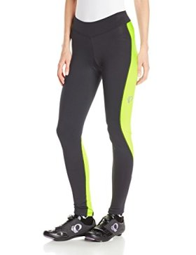 Pearl Izumi – Ride Women's Sugar Thermal Cycling Tights, X-Small, Black/Screaming Yellow