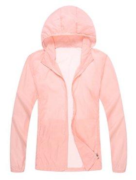 Unisex Lightweight Sun UV Protection Windproof Sports Rain Jacket