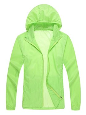 Unisex Lightweight Sun UV Protection Windproof Sports Rain Jacket