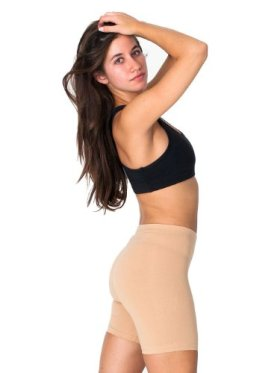 American Apparel Cotton Spandex Jersey Cycle Short – Nude / S