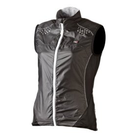 NSR Women's Wind Gilet Vest, Dark Grey, Medium