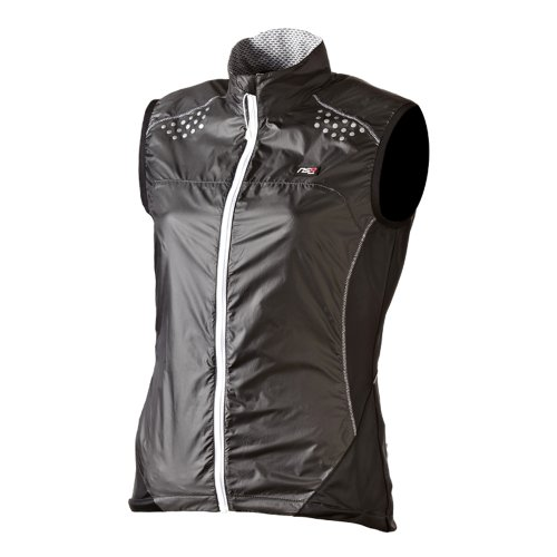 NSR Women's Wind Gilet Vest, Dark Grey, Medium