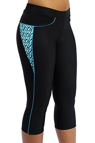 ScudoPro Capri Legging Knicker Padded Cycling Pant for Women 3/4 Blue – Size XS