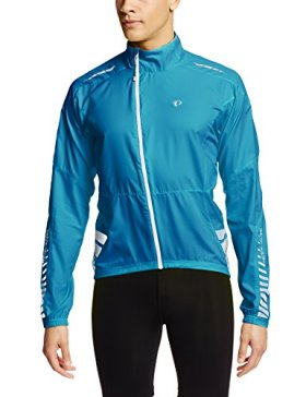 Pearl Izumi Men's Elite Barrier Jacket, Mykonos Blue, Large