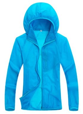 Wantdo Women Super Ultralight Fashion Skin Jacket Sunproof jacket(Blue,US L)