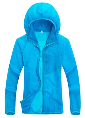 Wantdo Women Super Ultralight Fashion Skin Jacket Sunproof jacket(Blue,US L)