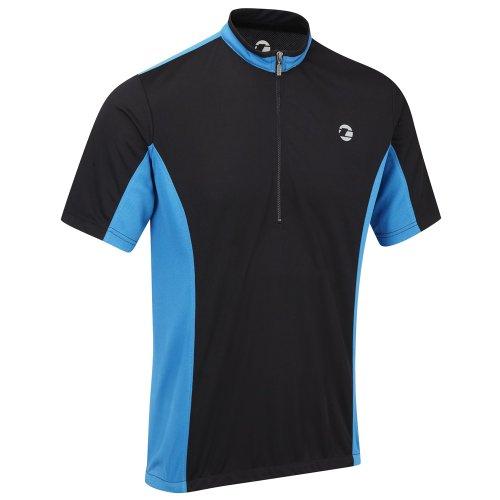 Tenn Mens Coolflo S/S Cycling Jersey – Black/Blue – XL