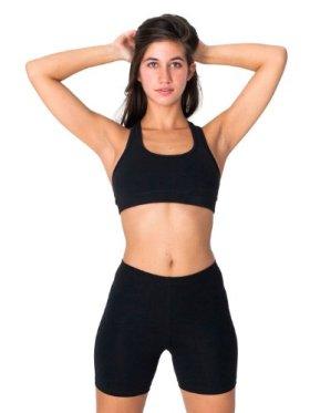 American Apparel Cotton Spandex Jersey Cycle Short – Black / L