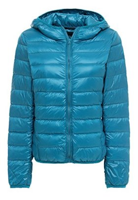 Z-SHOW Womens Outwear Light Packable Down Coat Powder Pillow Jacket,US Large/ASIAN 2XL,Acid Blue
