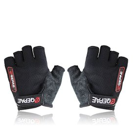 Grazing® Ultra-breathable and Anti-slip Half Finger Silicone Bike Bicycle Gloves
