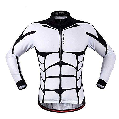 Anhvuu Unisex Long Sleeve Shirt Cycling Jerseys Warm Riding Clothing M